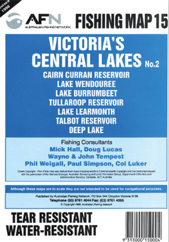 Victorias Central Lakes Fishing Map 15 AFN